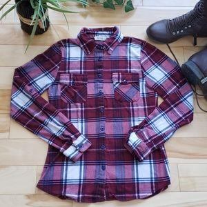 Ardene - plaid button down shirt
